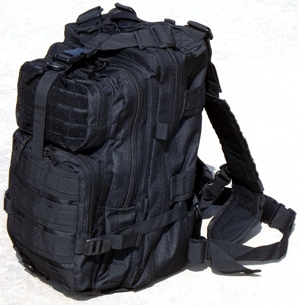 "18"" Black SWAT Tactical Military Style Assault Pack"