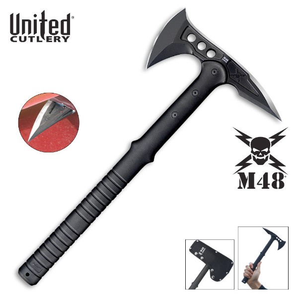 M48 Kommando Tactical Tomahawk Axe with Snap On M48 Sheath
