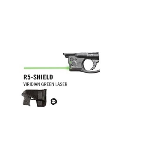 Reactor 5 Green Laser for Shield w/ECR/Holster