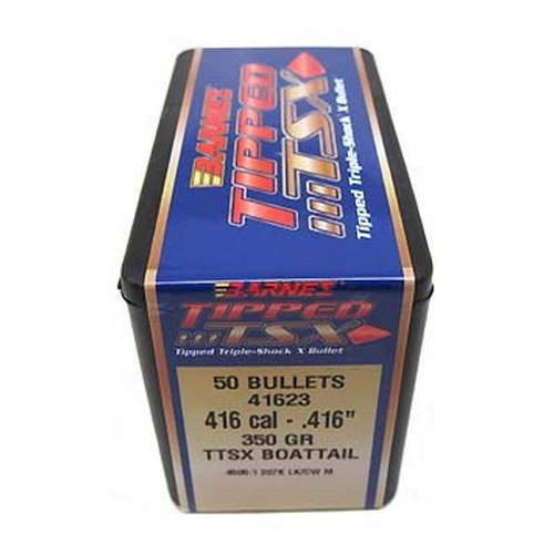 "Tipped Triple-Shock X Bullets - 416 Cal .416"" 350Gr Boat Tail (P"